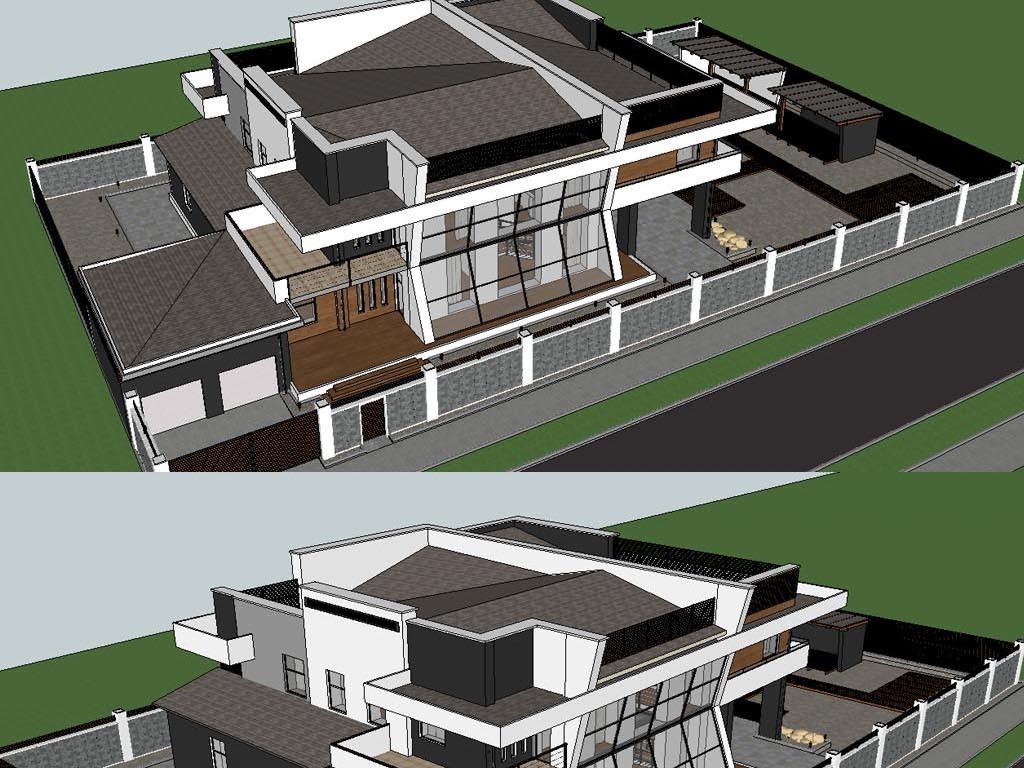 别墅建筑设计模型