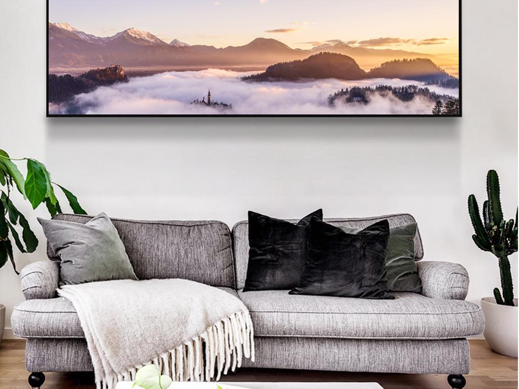 北欧风唯美风景床头装饰画