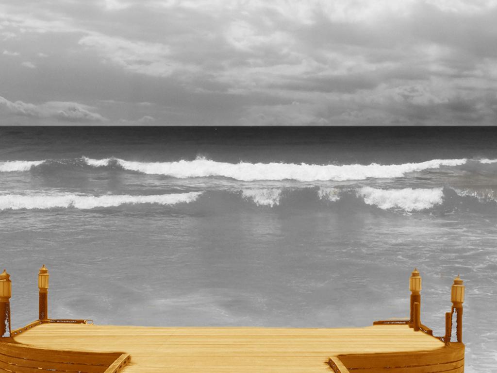 装饰画 北欧装饰画 其他 > 海边风景装饰画  素材图片参数: 是否可