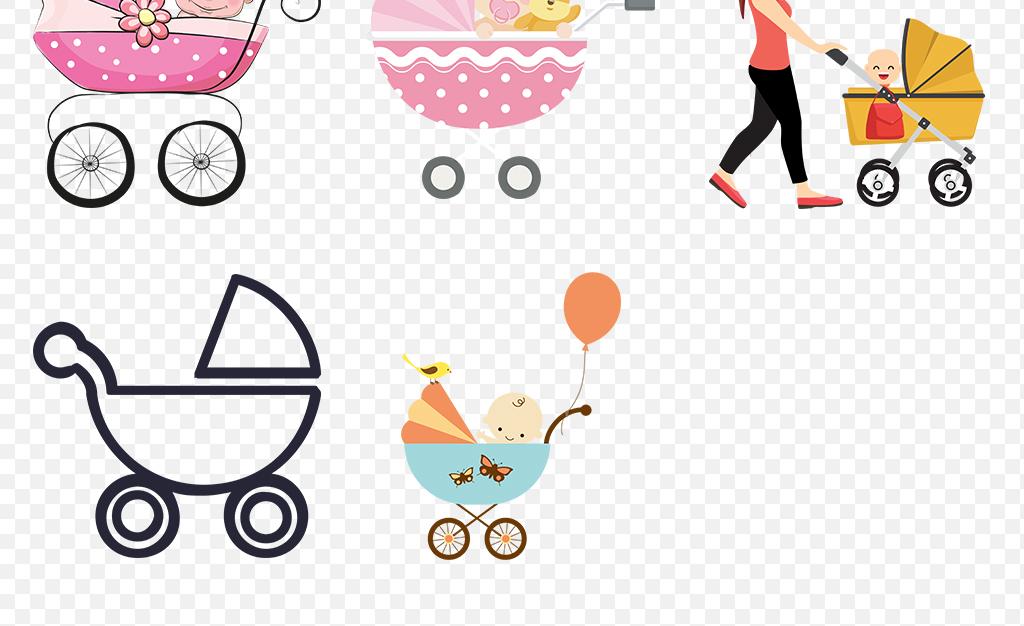 婴儿推车婴儿车海报素材背景图片png