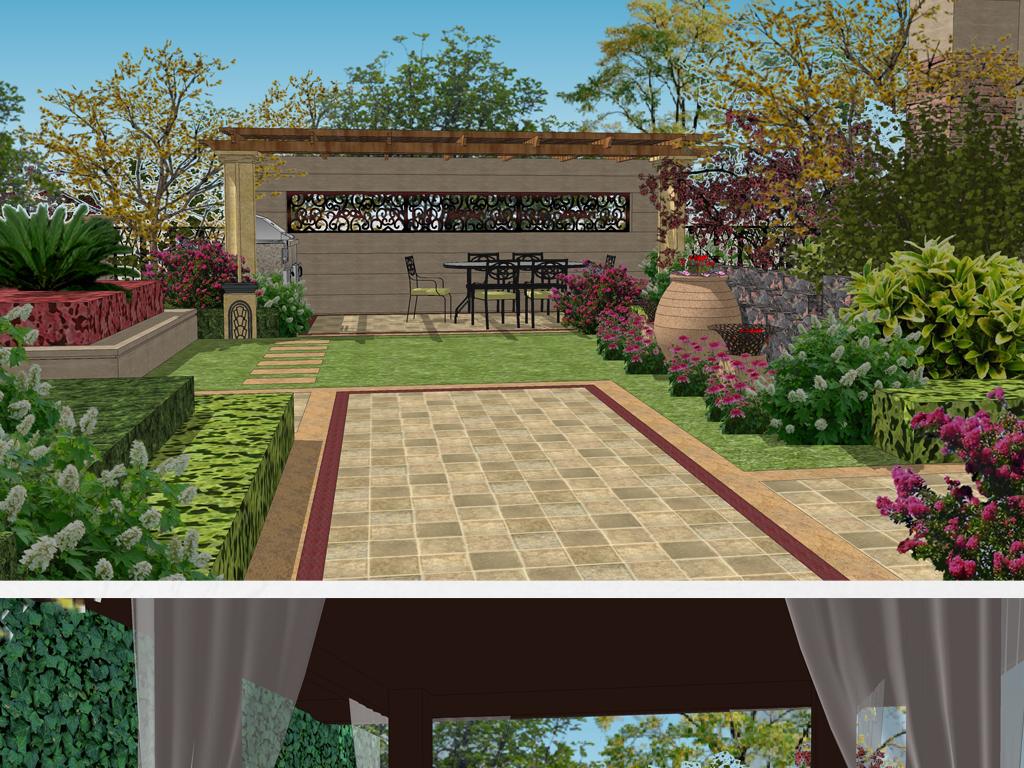 景墙新中式景墙                                          入口景观