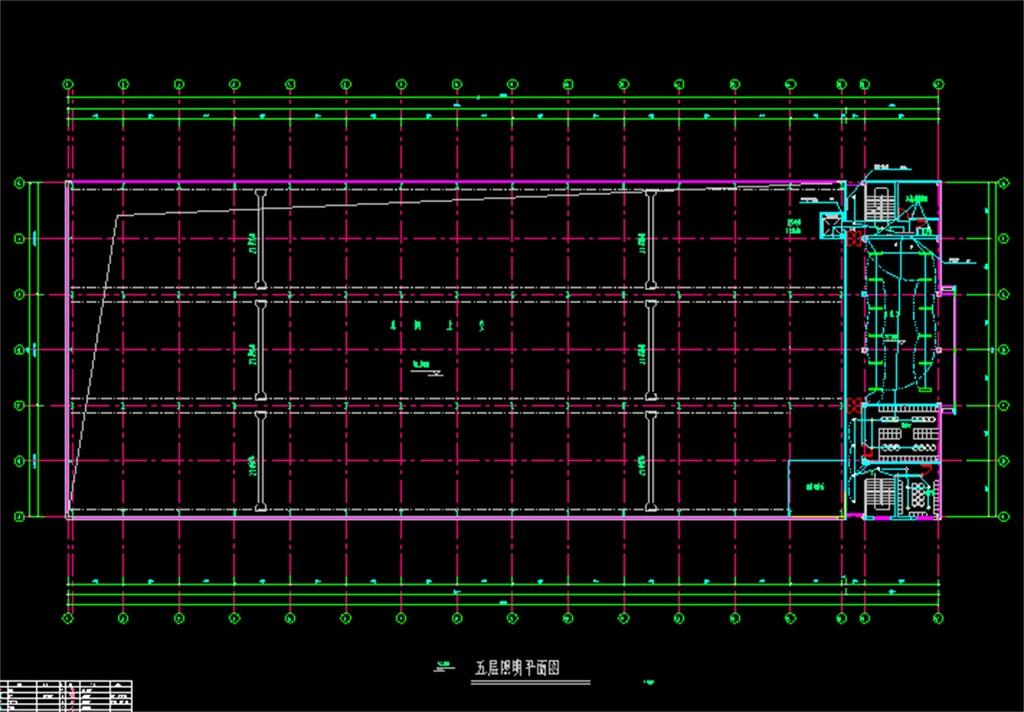 5层厂房车间电气cad设计图