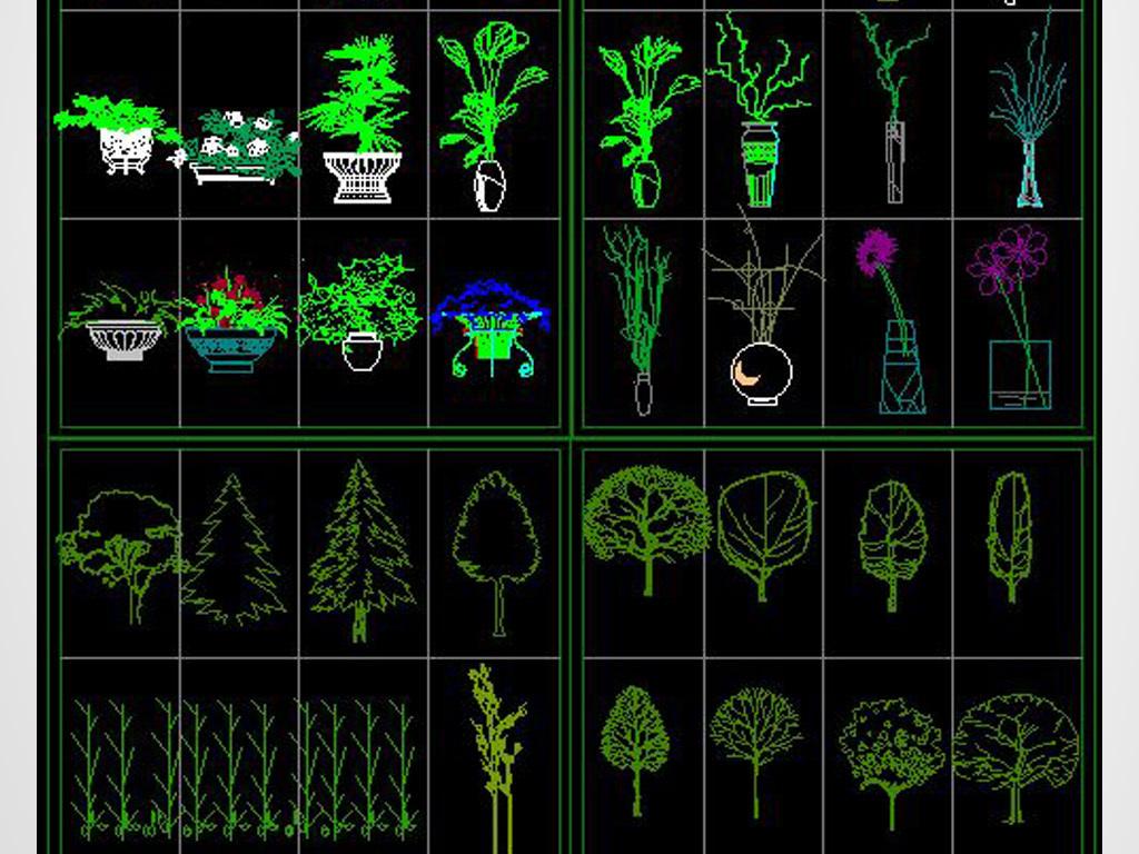 v版本版本大全花草CAD平立面图树木现在cad什么植物用图片