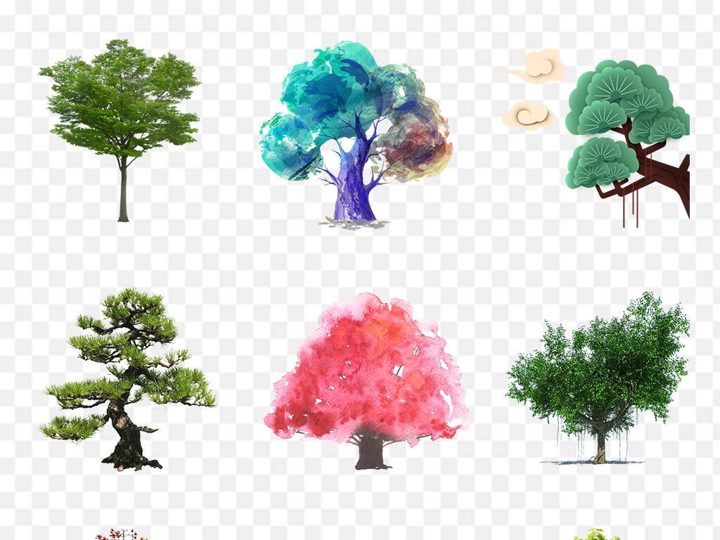 植物图片环保树木背景植树节环保图片绿色环保手绘