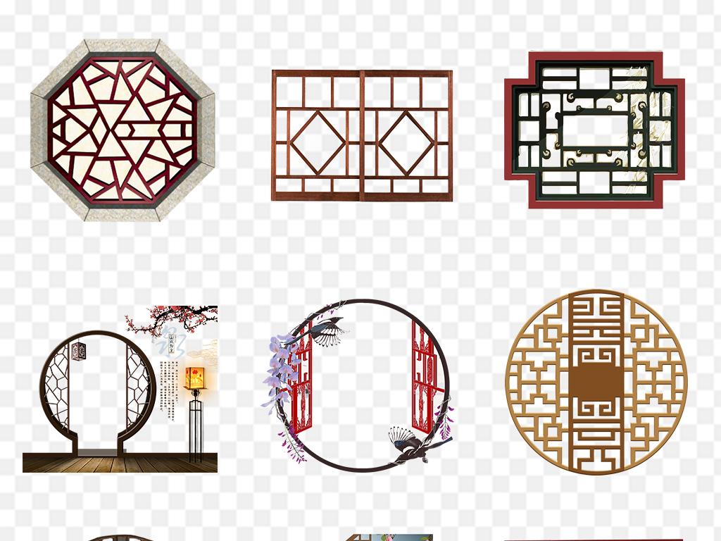 窗框                                          中式窗户窗子中国风