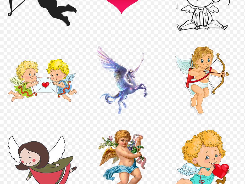 卡通可爱唯美天使翅膀海报素材背景图片png