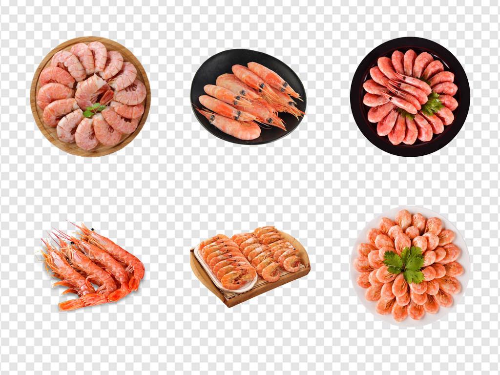 生鲜虾美食美食海报手绘虾基围虾红虾火锅食材