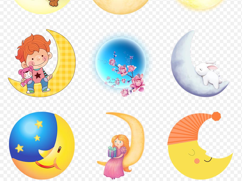 唯美中秋节月亮圆月月球海报素材背景图片png