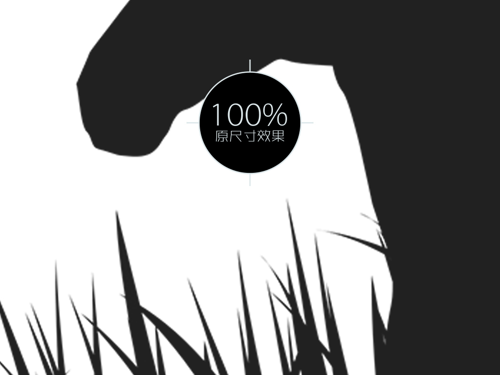 北欧黑白动物剪影三联装饰画