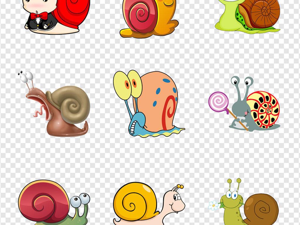 幼儿童话故事蜗牛昆虫动物海报png素材