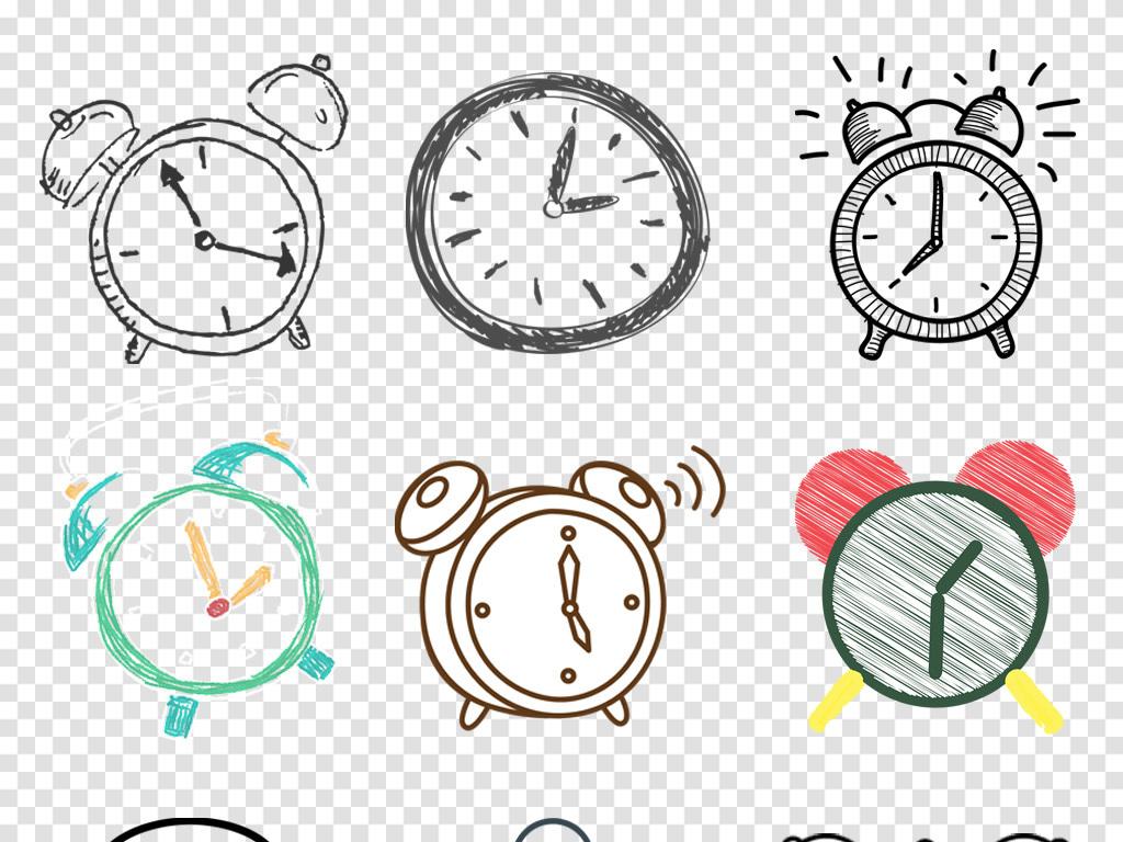 免抠元素 生活工作 居家物品 > 卡通手绘时钟闹钟图标限时抢购图标png
