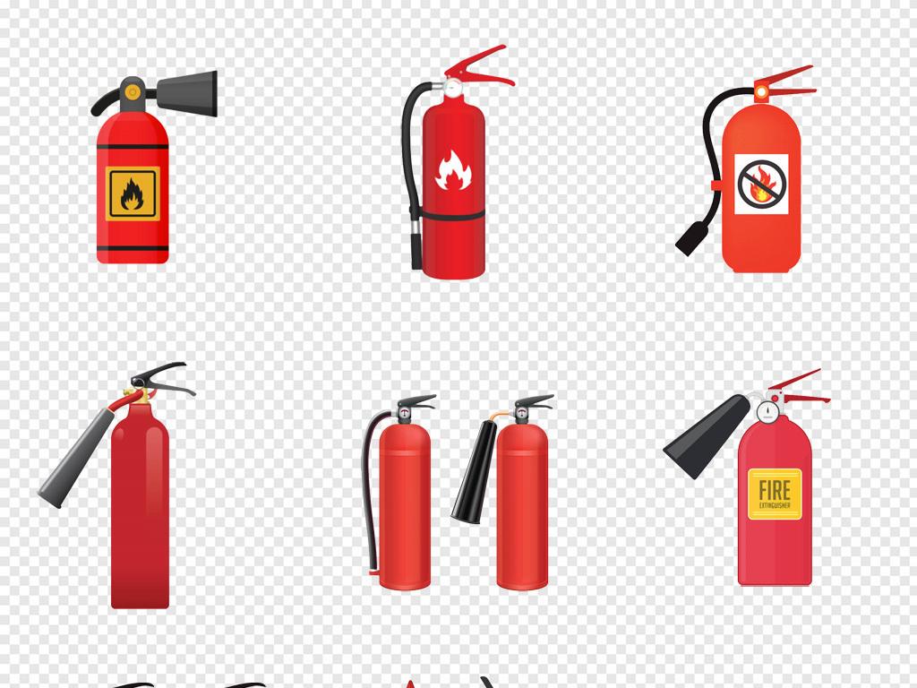 卡通手绘火灾灭火器消防车消防员灭火png图片素材 模板下载 1.96MB 其他大全 生活工作