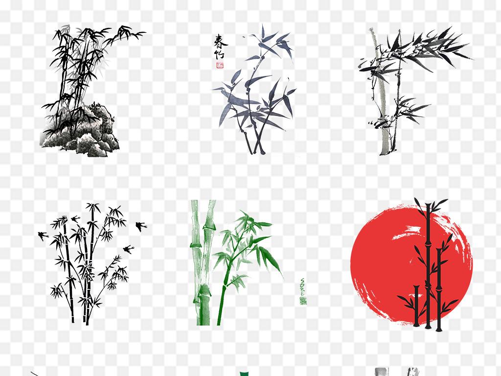 中国风竹子水墨竹子png