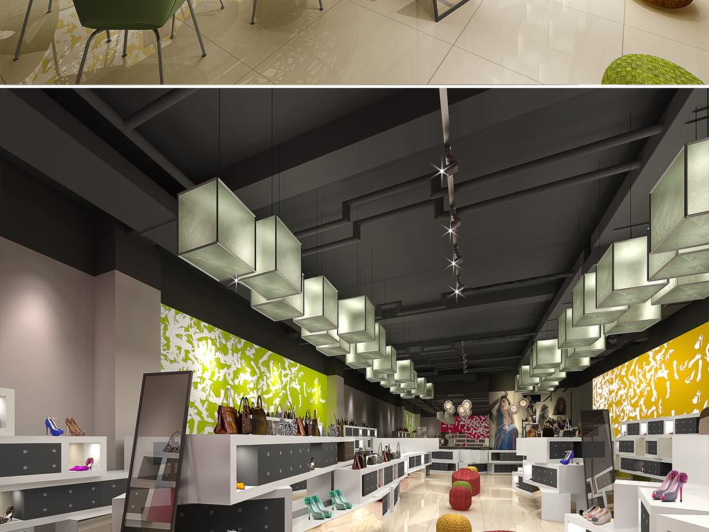 时尚前卫鞋店3dmax模型高清效果图设计图下载(图片36.