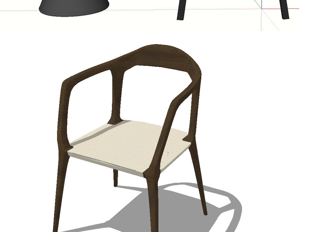 模型库 su模型 家居空间 > 现代北欧工业室内loft椅子su模型  素材图片