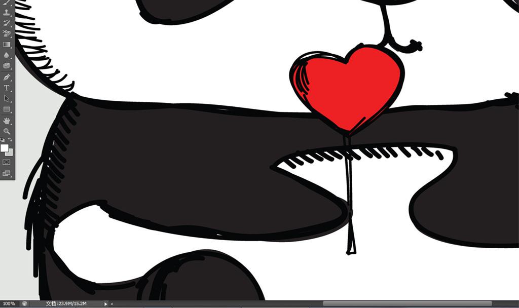 北欧现代简约手绘卡通动物小熊猫装饰画图片下载 动物装饰画大全 北欧装饰画编号 18622822