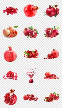 新鲜红石榴水果海报详情页设计