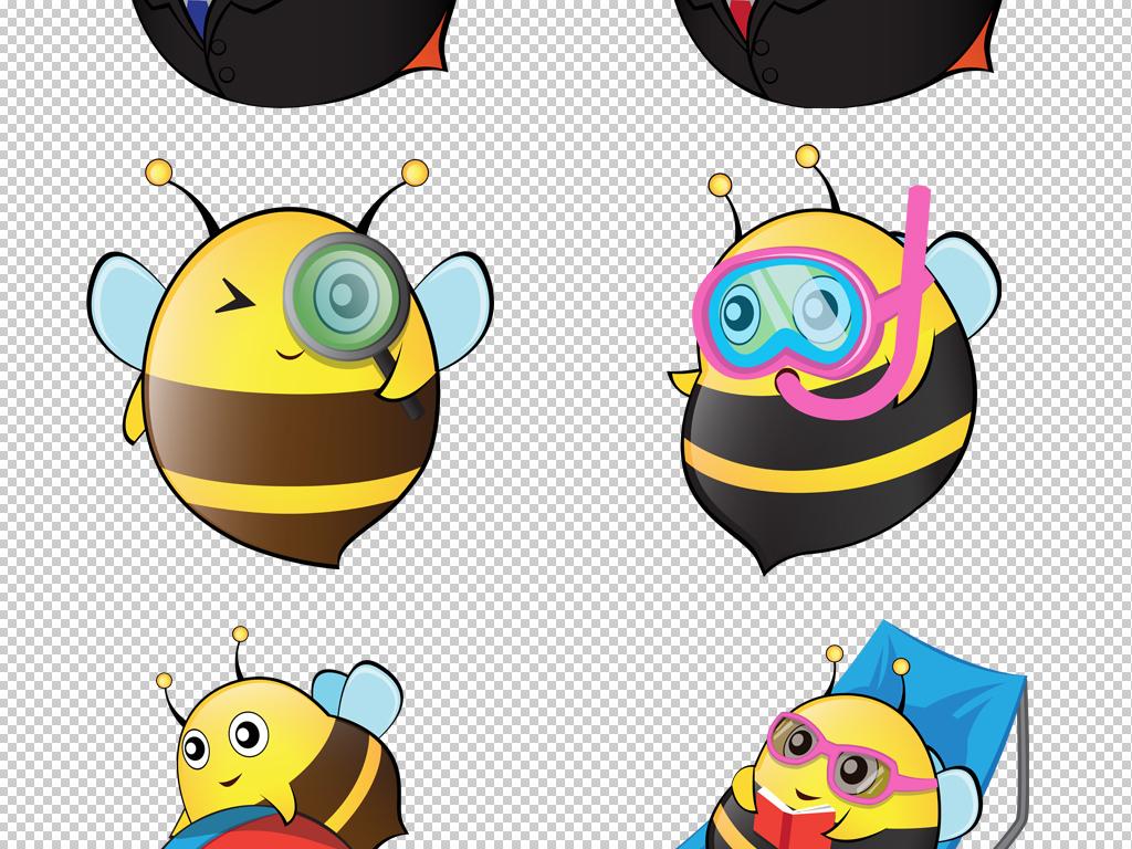 萌萌小蜜蜂png素材卡通可爱动物高清图片