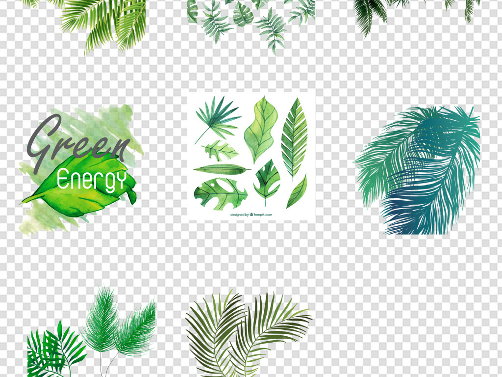 叶子背景植物树叶水彩植物背景森系水彩植物元素水彩背景树叶背景水