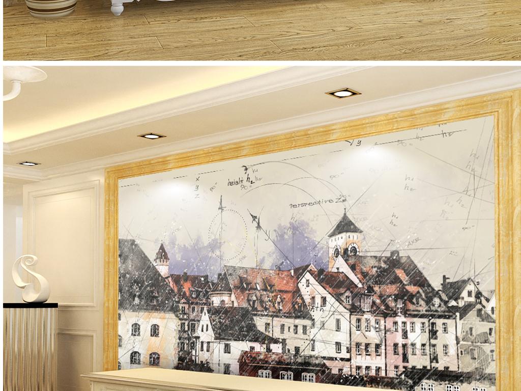 手绘匈牙利小城公寓