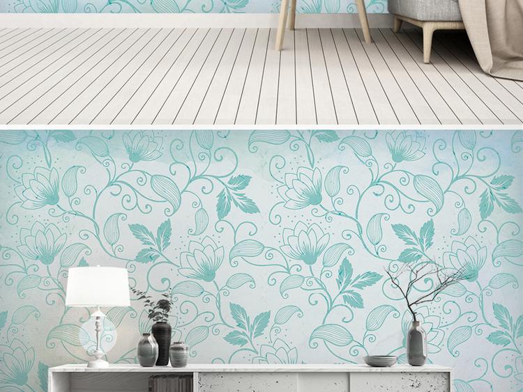 北欧ins简约绿色背景墙图片设计素材 高清模板下载 189.44MB 现代简