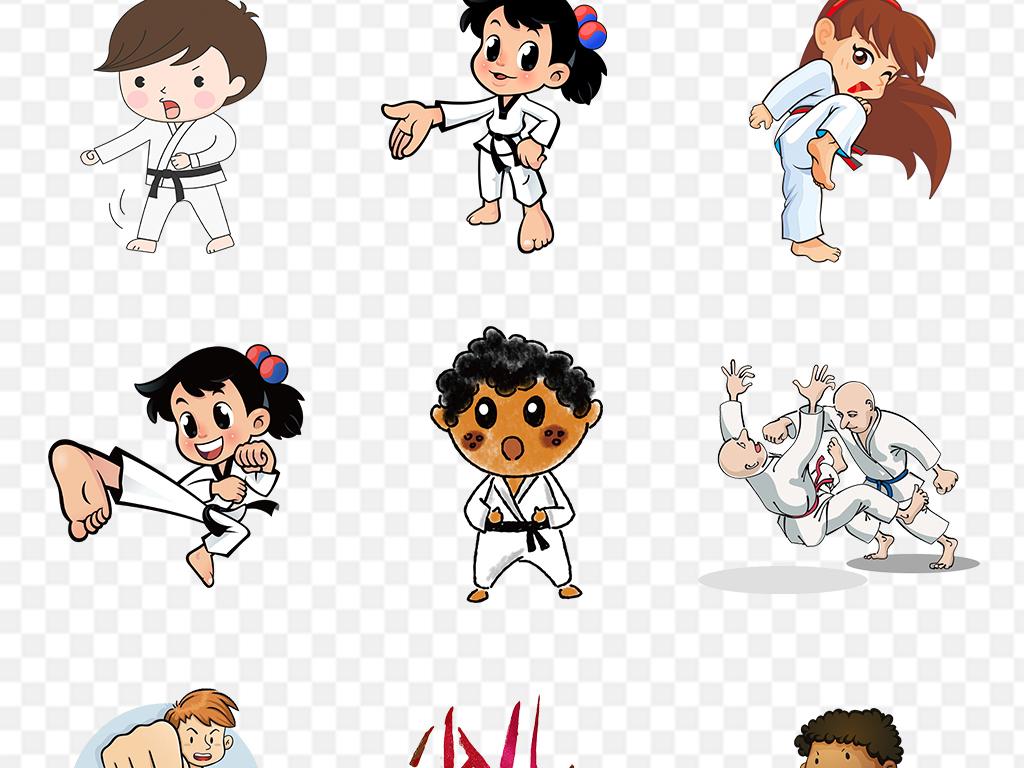 卡通人物跆拳道png