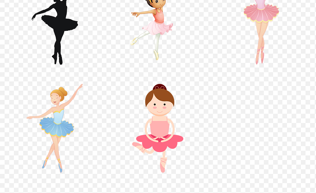 卡通芭蕾手绘芭蕾芭蕾舞蹈