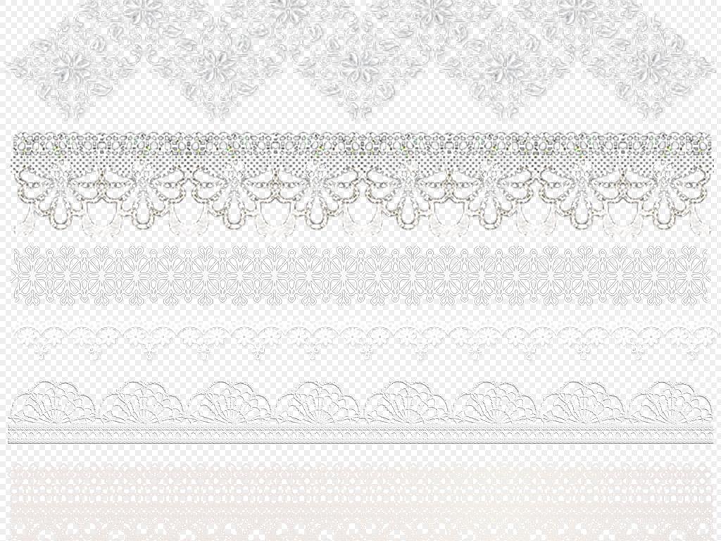 免抠元素 花纹边框 欧式边框 > 蕾丝花边png免抠素材(02)  素材图片