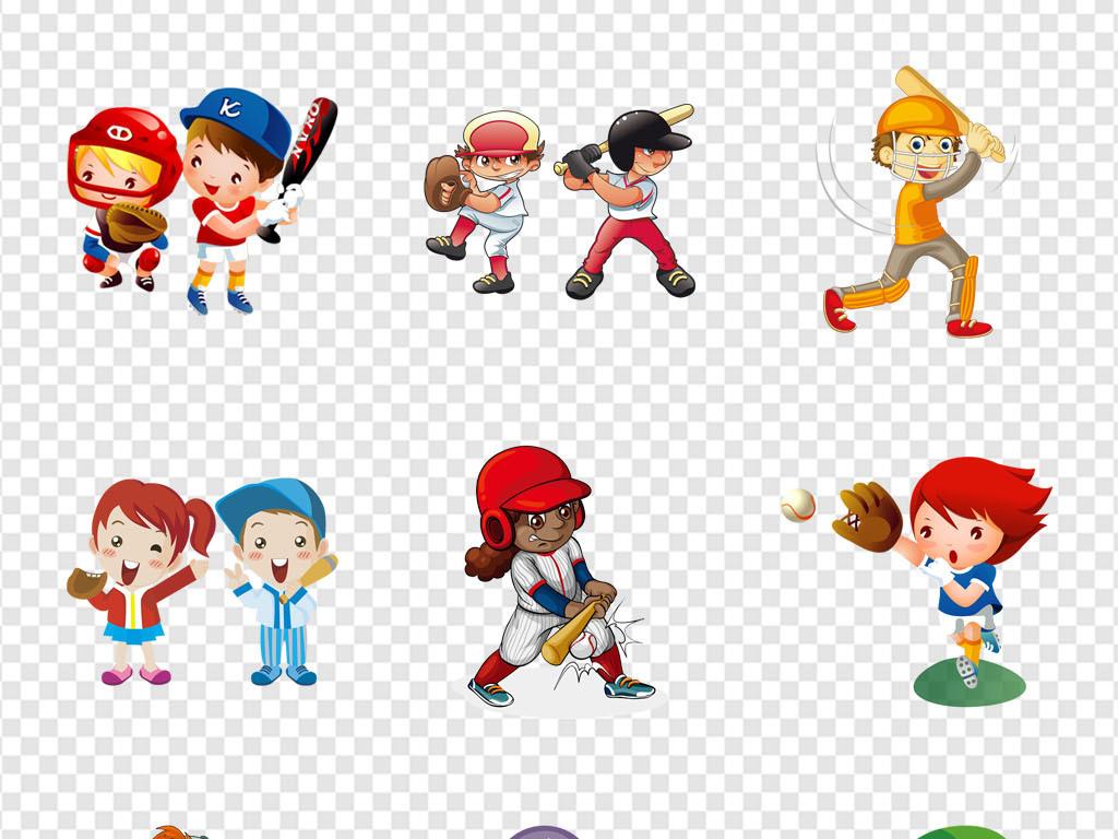 免抠元素 人物形象 动漫人物 > 少儿体育运动儿童打棒球帽培训海报png
