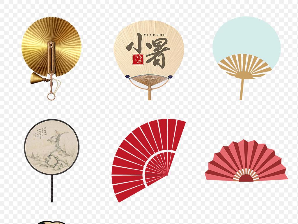 中国风古典古风扇子海报素材背景图片png