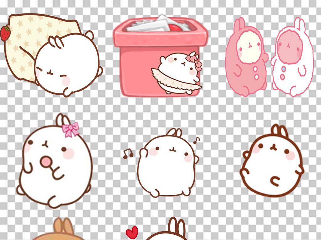 免抠元素 标志丨符号 表情符 > 卡通可爱胖兔子png免扣素材  素材图片