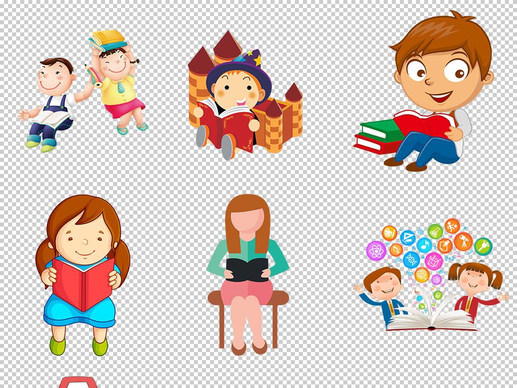 免抠元素 人物形象 动漫人物 > 卡通儿童背书包小学生开学季海报素材