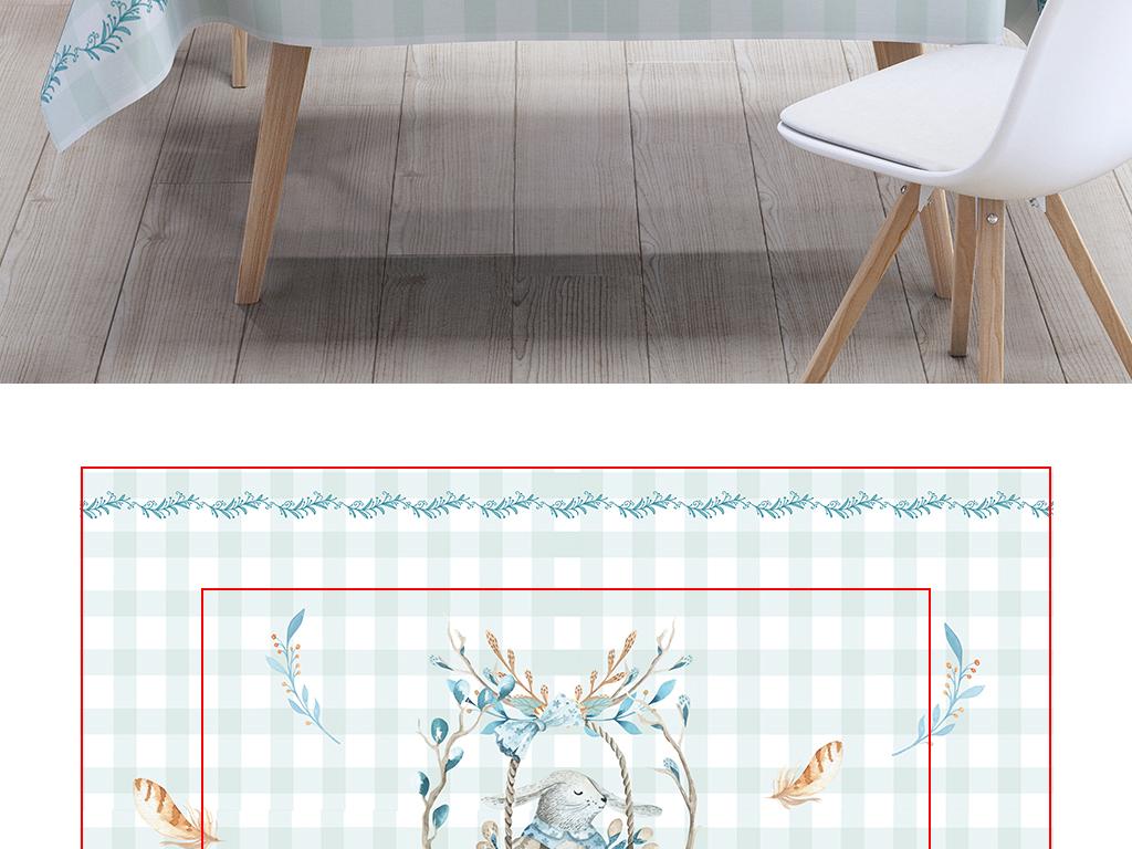 小清新ins方格兔子桌布挂毯脚垫装饰画图片设计素材 高清模板下载 95.52MB 桌布大全