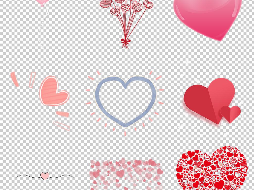手绘水彩爱心心形心动海报素材背景图片png