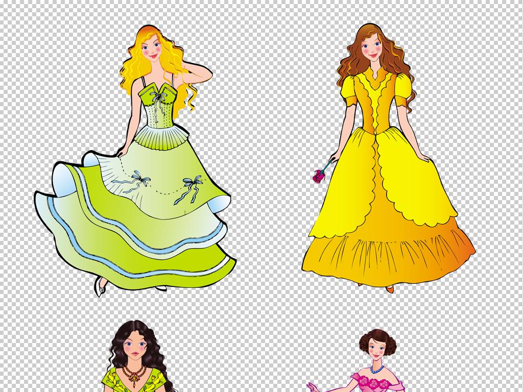 卡通可爱童话人物公主png免扣透明素材
