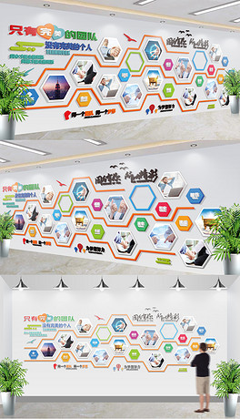 展厅照片墙公司员工风采效果图-党的光辉历程社区党员之家活动室党