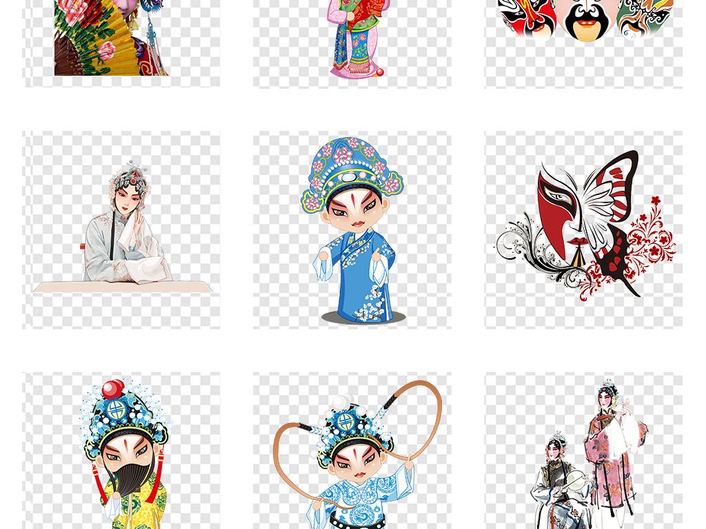 手绘人物剪纸人物卡通人物素材脸谱京剧京剧脸谱卡通素材人物素材京剧