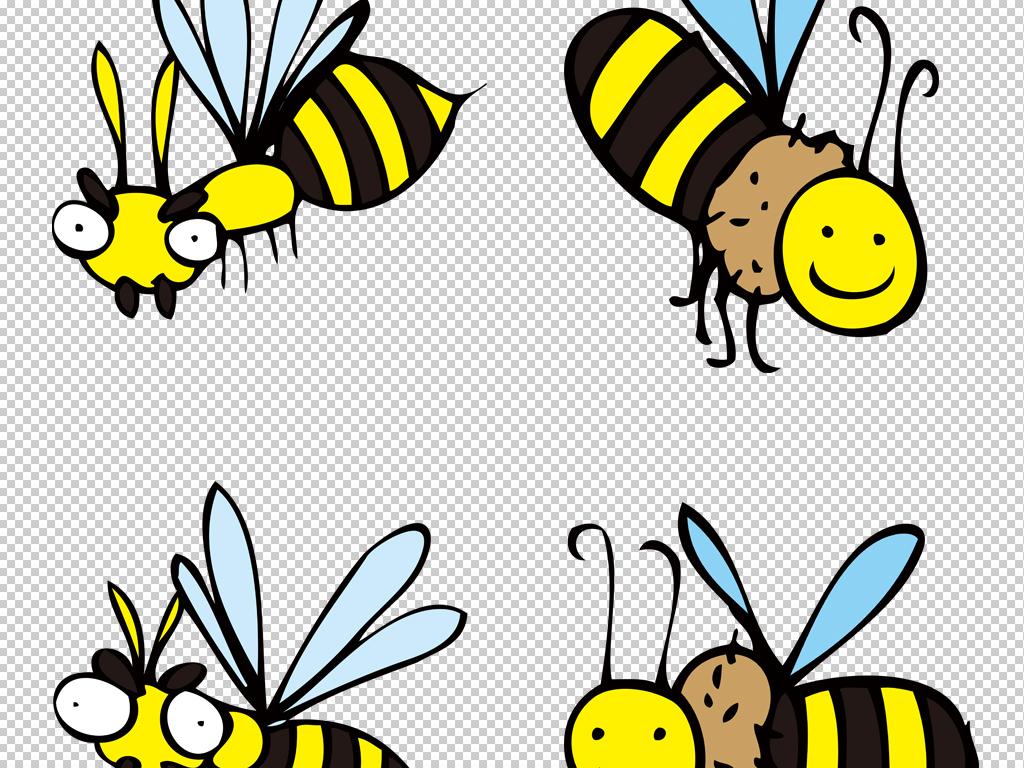 卡通可爱动物手绘彩绘小昆虫png免扣素材