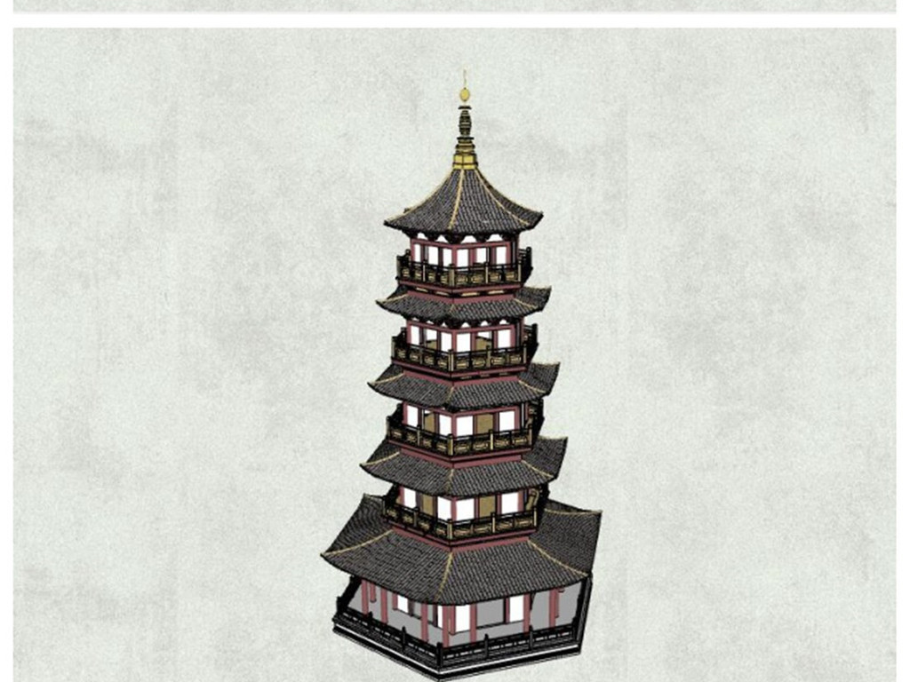 房子古典塔古塔城堡精品塔林SU模型v房子古堡图纸三室一厅图片