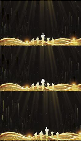 金色奔跑年会晚会LED背景视频