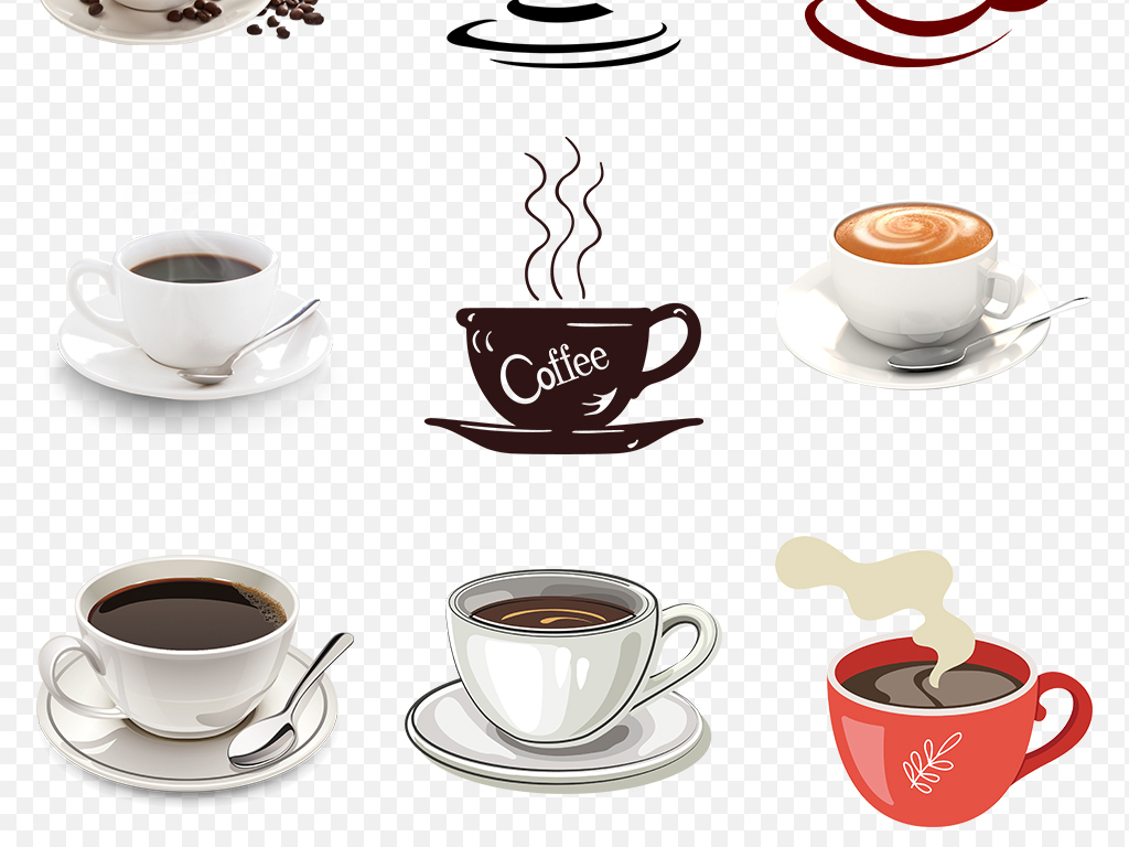 手绘下午茶图片饮料星巴克咖啡广告素材背景图片咖啡豆咖啡杯休闲背景