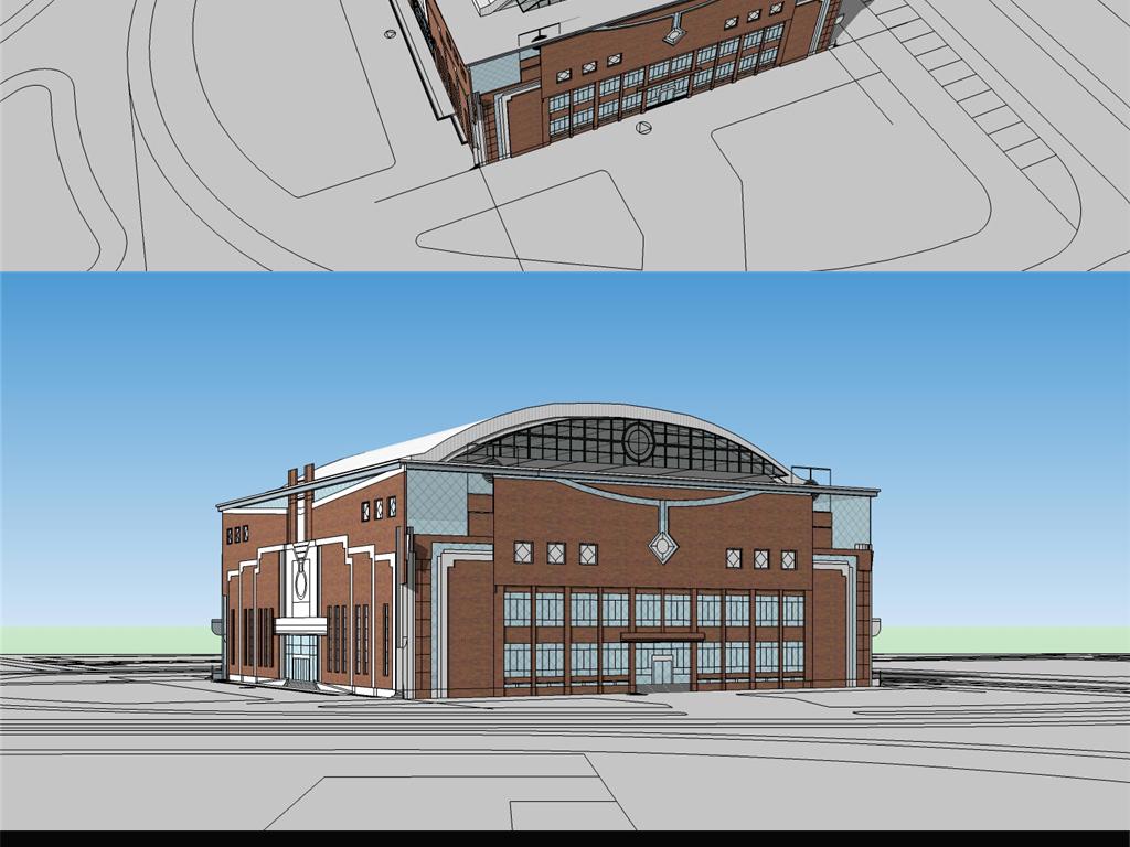 体育中心健身运动场s模型 cad图纸设计图下载(图片3.