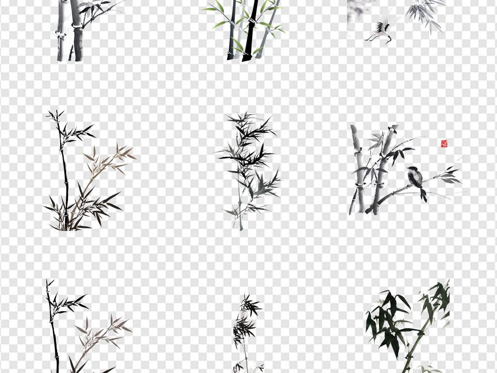 中国风竹子手绘竹子水彩竹子