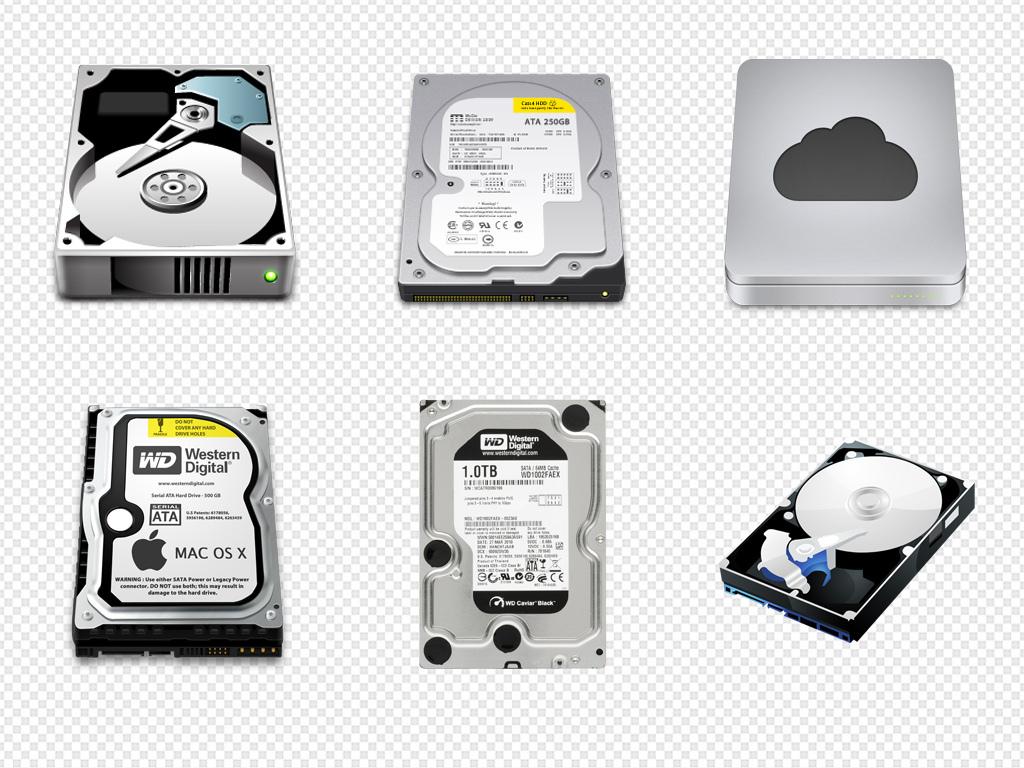 硬盘笔记本电脑硬盘台式海报背景png素材图片