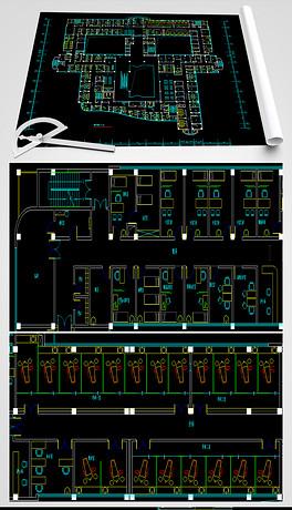 激光切割工艺品CAD图纸3D拼装图cad坐标变大怎么字体的图片