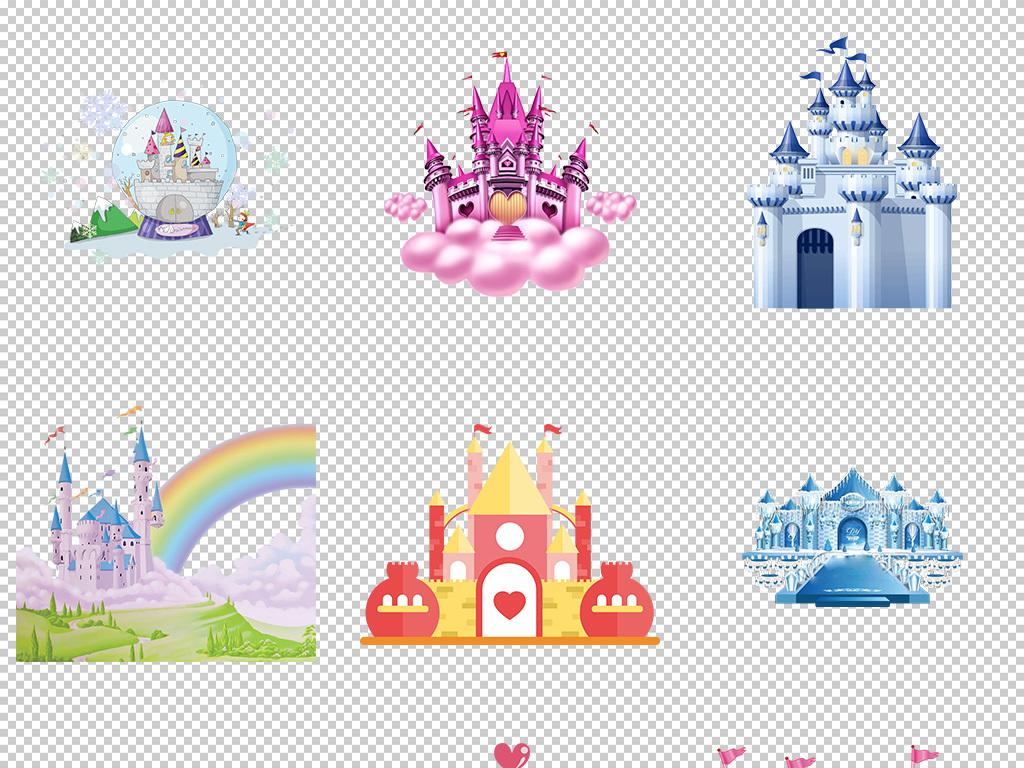 欧式城堡素材图片背景图片png图片梦幻卡通城堡卡通图片卡通素材城堡