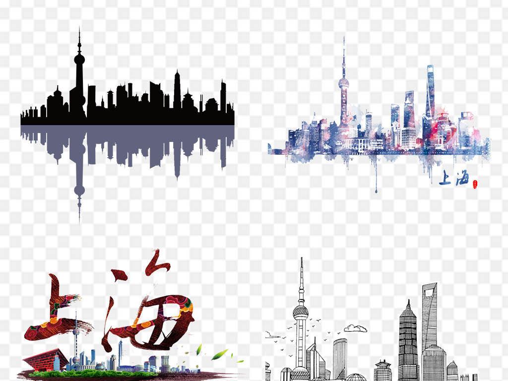 上海城市建筑旅游风景png图片素材_模板下载(27.31mb)