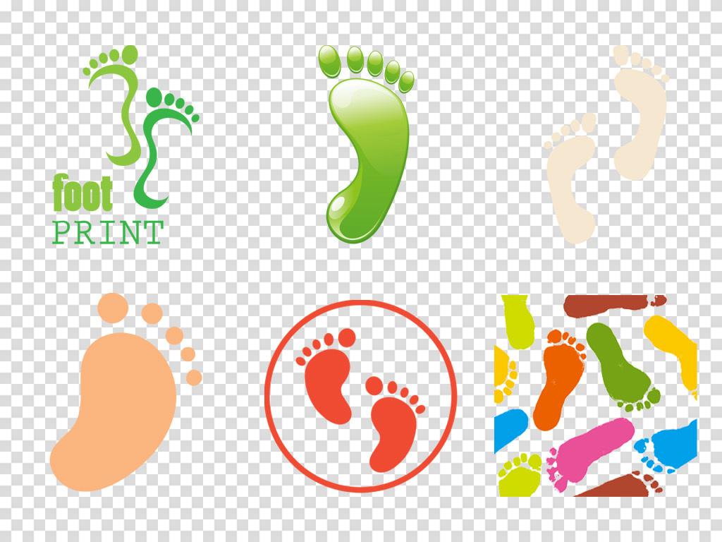 卡通儿童宝宝脚印手绘脚丫海报背景png素材图片_模板