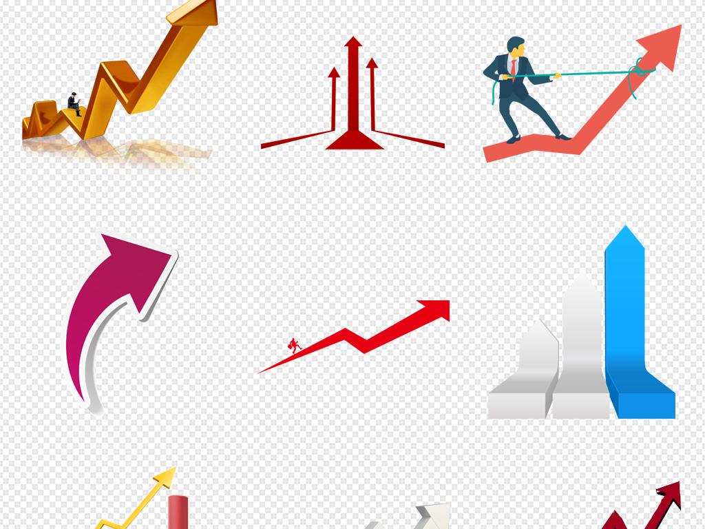 数据汇报上升箭头增长趋势图海报素材背景图片png