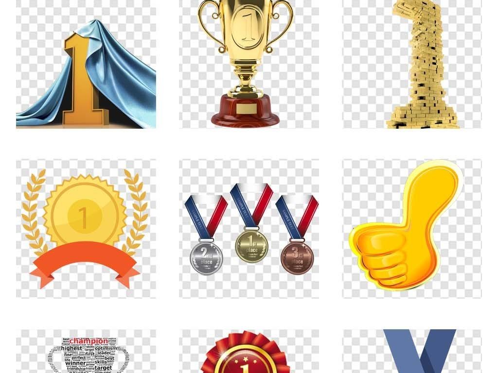第一名奖牌金牌奖杯数字艺术字体海报素材